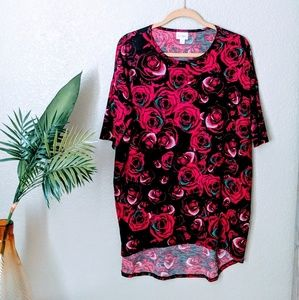 Lularoe Black & Red Rise Print Irma Sz M